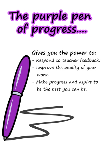 Purple pen of progress