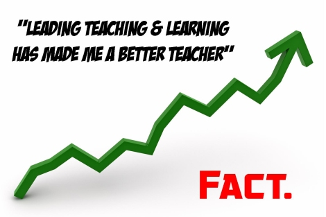 Leading Teaching & Learning has made me a better teacher. Fact.